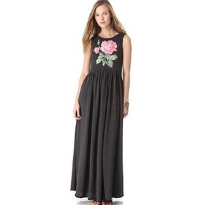 Wildfox Valley Rose Maxi Dress in Clean Black